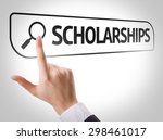 scholarships written in search... | Shutterstock . vector #298461017