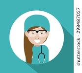 doctor digital design  vector... | Shutterstock .eps vector #298487027