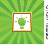 image of light bulb in golden...