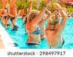 people doing acquagym in a... | Shutterstock . vector #298497917