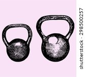 kettlebell  dumbbell weight ... | Shutterstock .eps vector #298500257