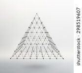 polygonal pyramid. pyramid of... | Shutterstock .eps vector #298519607