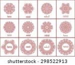 mehndi henna logo templates....   Shutterstock .eps vector #298522913