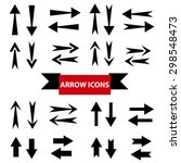 illustration of arrow icons set ...