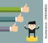 business situation. businessman ... | Shutterstock .eps vector #298548803