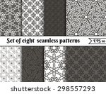 vector set of seamless patterns.... | Shutterstock .eps vector #298557293