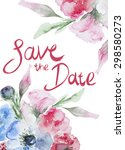 wedding or birthday card.... | Shutterstock . vector #298580273