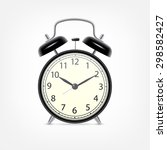 black alarm clock. eps10 vector | Shutterstock .eps vector #298582427