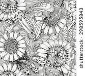 Seamless  Floral Doodle...