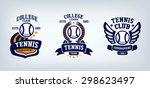 tennis club emblem  college... | Shutterstock .eps vector #298623497
