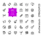 outline web icon set   party ... | Shutterstock .eps vector #298626923