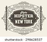 vector. retro design | Shutterstock .eps vector #298628537