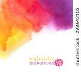watercolor bright hand painted... | Shutterstock .eps vector #298642103