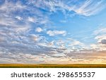 landscape of a canola field at... | Shutterstock . vector #298655537