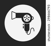 hair dryer icon | Shutterstock .eps vector #298666793