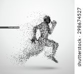 people running  particle... | Shutterstock .eps vector #298674527