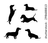Dachshund Vector Icons And...