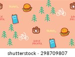 vacation travel trip conceptual ... | Shutterstock .eps vector #298709807