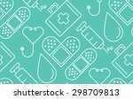 minimal flat line medical and... | Shutterstock .eps vector #298709813