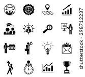 business icons set illustration | Shutterstock .eps vector #298712237