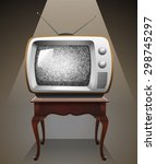 Retro Television On The Table