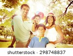 family happiness parents... | Shutterstock . vector #298748837