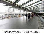 pedestrian walking on street    Shutterstock . vector #298760363