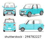 blue car four angle set