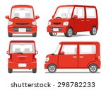 red car four angle set | Shutterstock .eps vector #298782233