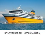 big yellow passenger ferry goes ... | Shutterstock . vector #298802057