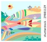 fantastic varicolored hills...   Shutterstock . vector #29881129