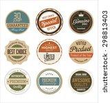 premium  quality retro vintage... | Shutterstock .eps vector #298813403