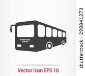 bus sign icon. public transport ... | Shutterstock .eps vector #298841273