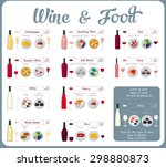 types of wine with food. wine... | Shutterstock .eps vector #298880873