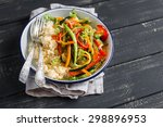 Rice With Vegetables On A Plat...