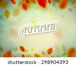 hello autumn  nature background ... | Shutterstock .eps vector #298904393