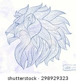 Patterned Head Of The Lion On...