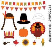 thanksgiving vector decoration... | Shutterstock .eps vector #298932263
