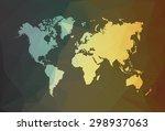 modern color world map. vector... | Shutterstock .eps vector #298937063
