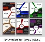 set of flyer template or... | Shutterstock .eps vector #298940657