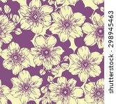 botanic jasmine flowers design... | Shutterstock .eps vector #298945463