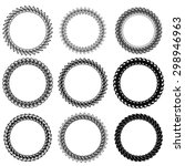 set of decorative circle frames ... | Shutterstock . vector #298946963