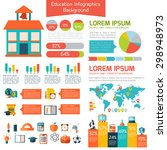 flat education infographic... | Shutterstock .eps vector #298948973