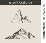 mountain sketch hand drawing ... | Shutterstock .eps vector #298960073