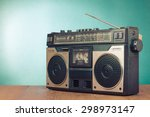 retro radio recorder from 70s... | Shutterstock . vector #298973147