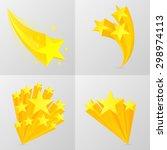 yellow stars set. isolated on...   Shutterstock .eps vector #298974113