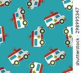 ambulance flat icon seamless... | Shutterstock .eps vector #298995347