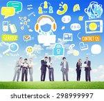 customer service help business...   Shutterstock . vector #298999997