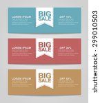 set of colored banners for sale.... | Shutterstock .eps vector #299010503