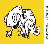 chameleon doodle | Shutterstock . vector #299011133